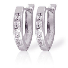 1.58 Carat 14K Solid White Gold Nothing Worth More Cubic Zirconia Earrings