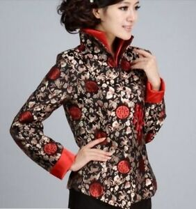 4233c3946 Chinese Tang suit women's coat silk embroidery jacket size:M-4XL | eBay
