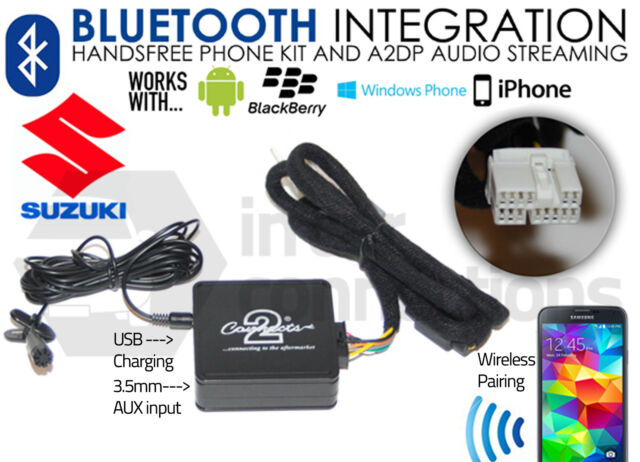 Suzuki Swift Bluetooth streaming handsfree calls music CTASZBT001 AUX MP3 iPhone