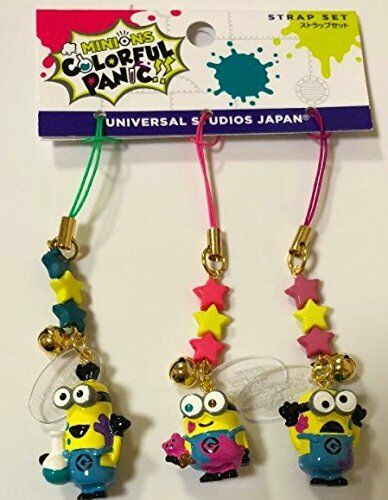 2018 USJ Limited Easter colorful Panic Minions Mascot Strap set Rare Collectible