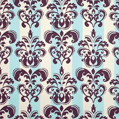 Annette Tatum Classica Rayon Challis Scroll Damask Fabric in Peacock RAAT002