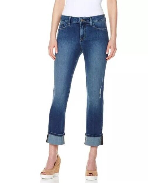 16 NYDJ Not Your Daughters Jeans Boyfriend Denim  Jeans Pittsburgh Wash NWT