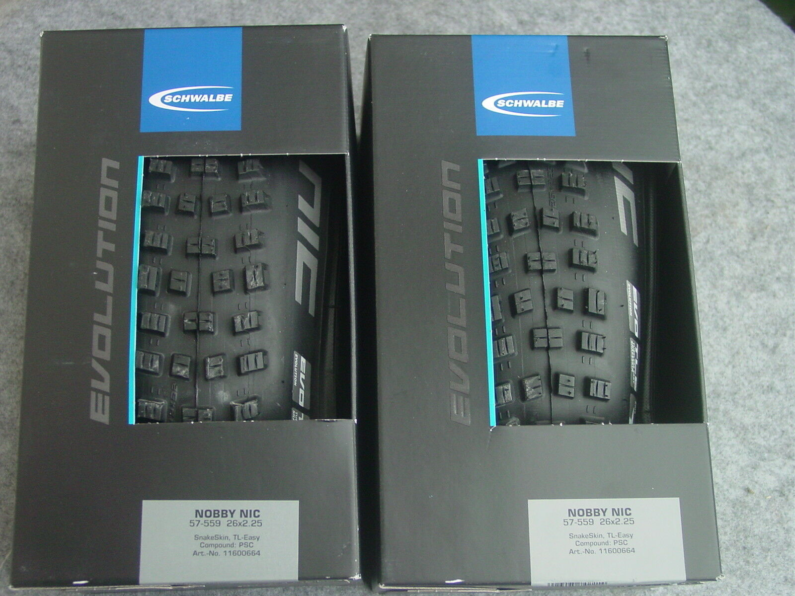 1 Pair Schwalbe Nobby Nic Evolution Folding Tubeless Ready 26,27,29 Inch New Ovp