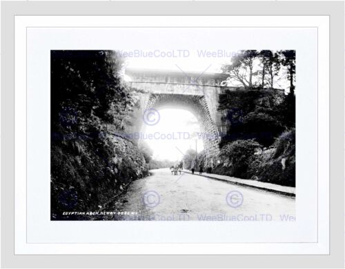 VINTAGE EGYPTIAN ARCH NEWRY COUNTY DOWN ULSTER UK BRIDGE FRAMED PRINT B12X3466
