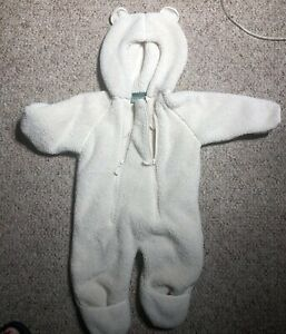 856fdea3b LL BEAN SNOW SUIT BEAR Infant Hi-Loft Fleece Coveralls 6-12 MONTH ...