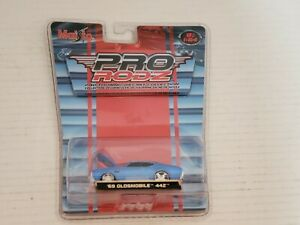 Maisto-Pro-RodZ-69-Oldsmobile-442-Diecast-Toy-Hot-Rod-Muscle-Cars