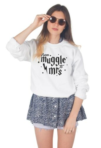 From Muggle To Mrs Jumper Sweater Top Sweatshirt Wedding Married Bride Hen Party