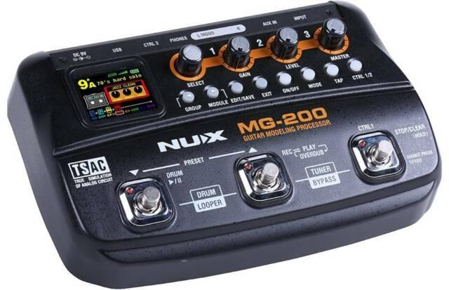 nux mfx10 guitar multi effects processor 32bit digital processor drum loop for sale online ebay. Black Bedroom Furniture Sets. Home Design Ideas