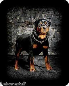New Rottweiler Dog Queen Size 79 X 96 Soft Faux Fur Medium Weight