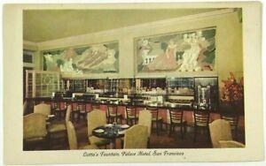 Postcard Lottas Fountain Palace Hotel Inside View San Francisco California CA
