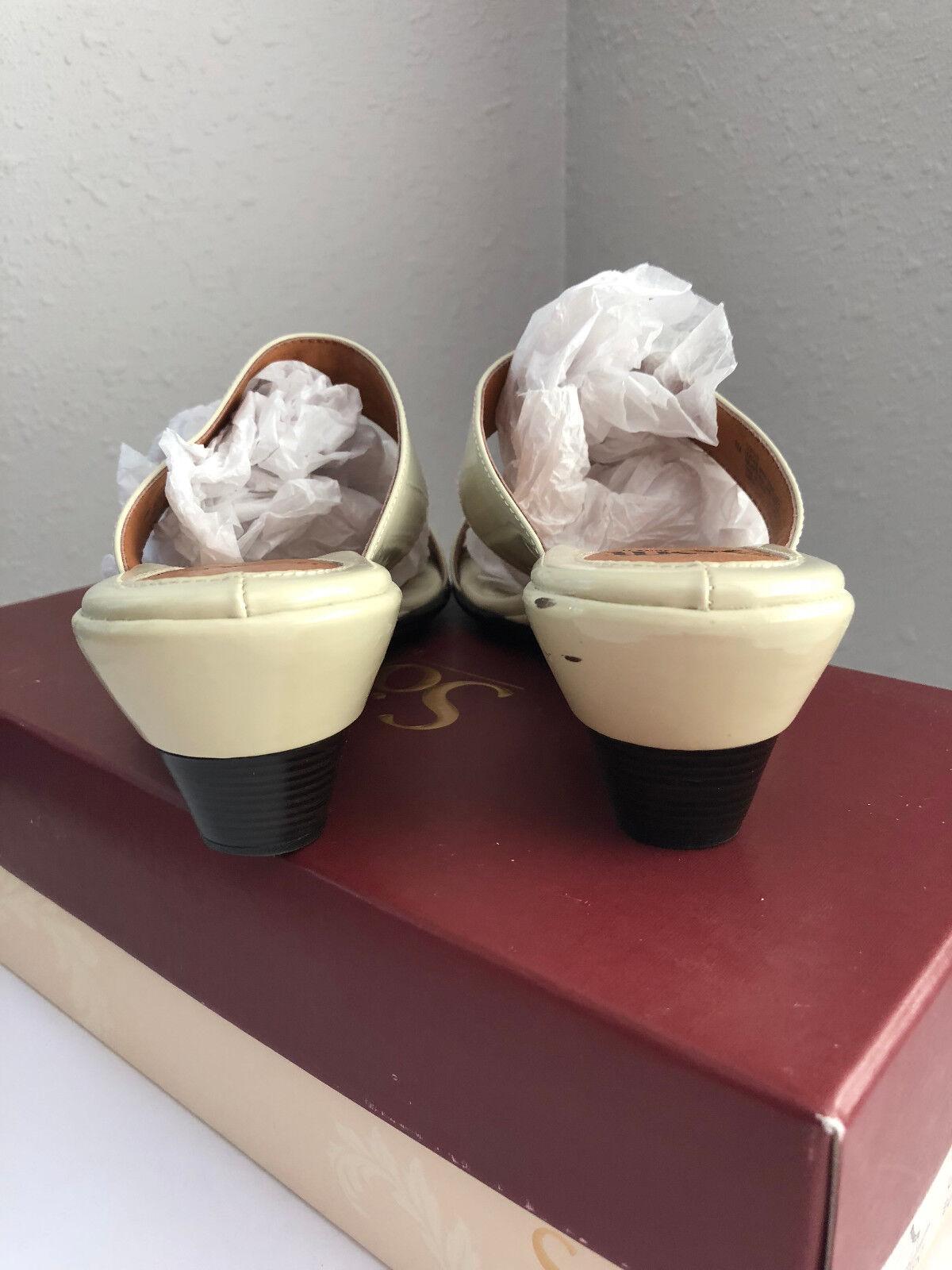 Sofft Sandales Größe 8 Anita Damenschuhe Wedge Schuhes Cream Patent 1237013 Nordstrom