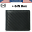 thumbnail 1 - RFID-Blocking-Men-039-s-Carbon-Fiber-Leather-Bifold-Credit-Card-ID-Holder-Wallet-US