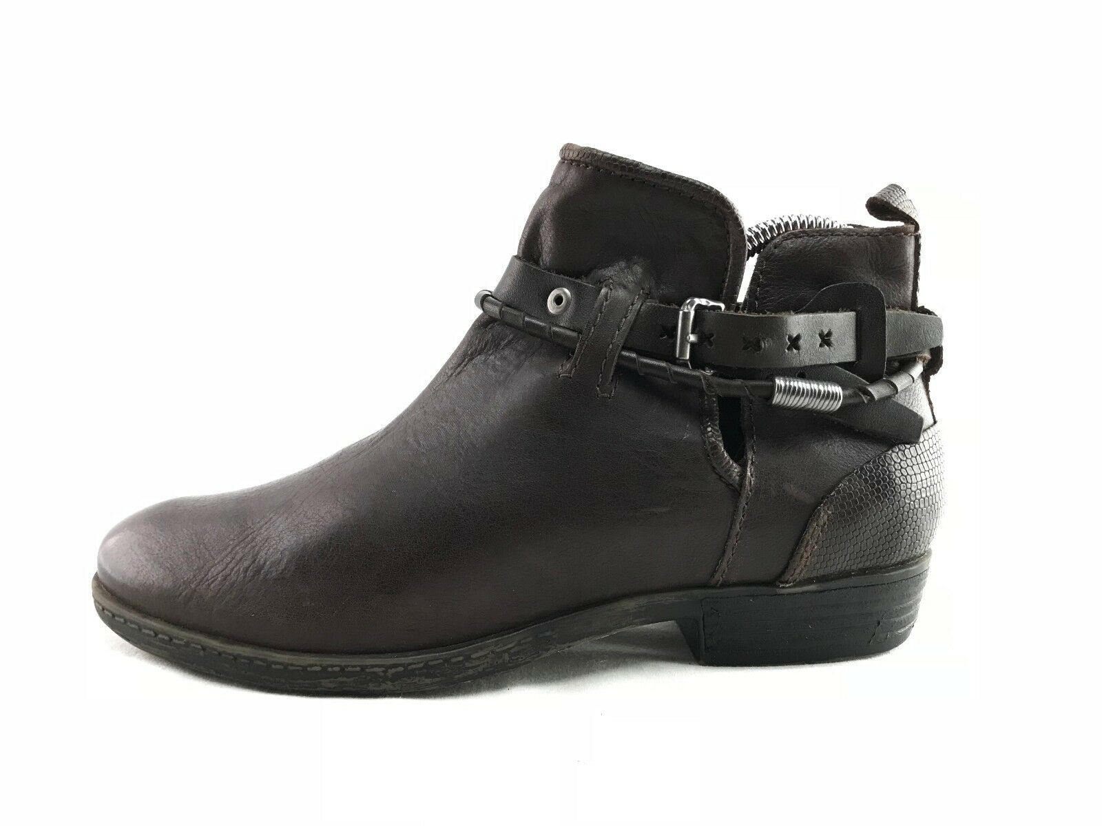 OTBT OTBT OTBT Low Rider Women's Brown Leather Slip On Ankle Boots US 7.5 M B905 23e6e6