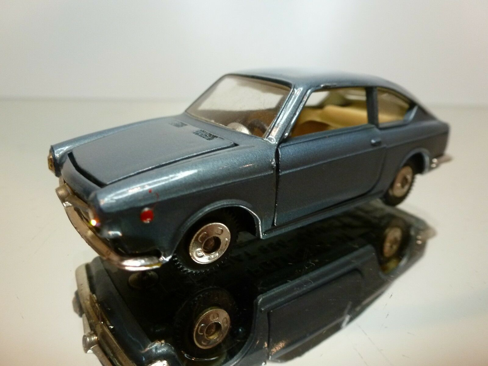 POLITOYS - M 517 FIAT 850 COUPE - bleu METALLIC 1 43 - VERY GOOD CONDITION - 2
