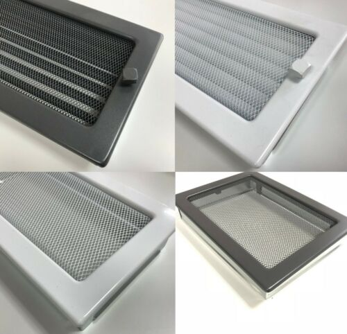 Deko Luftgitter Luftungsgitter aus Stahl Kalt Warm mit/ohne Regulierbar Lamellen