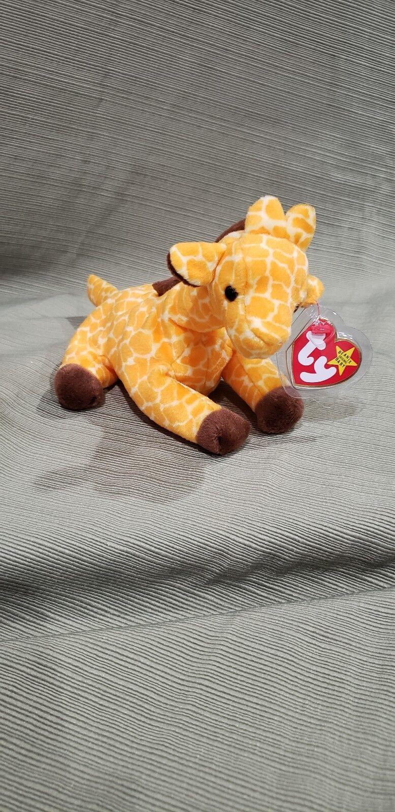 Ty beanie baby zweige der giraffe 1995 stil   4068 w   fehler pvc