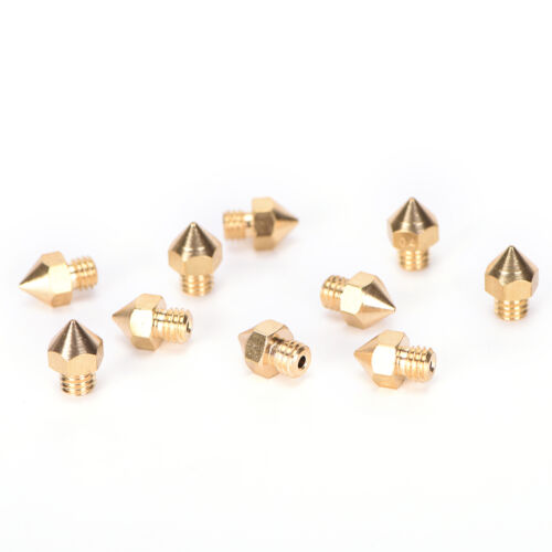 10x Brass 0.4mm Extruder Nozzle Print Head for MK8 Makerbot Prusa i3 3D*PrinLA P