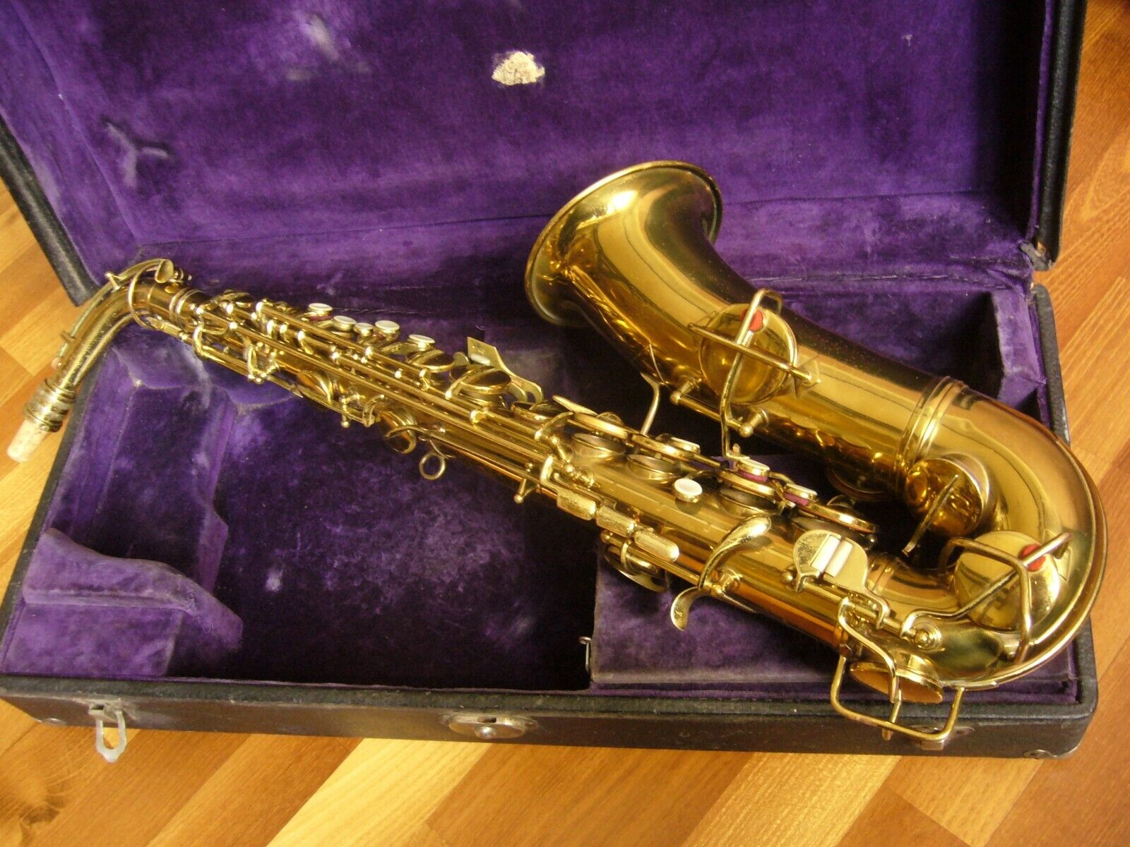 ,,Chu Berry''  Goldene Vintage Alto Saxophon C.G Conn New Wonder II  USA