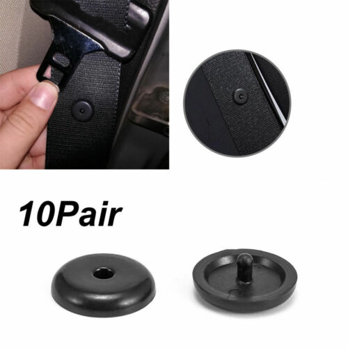 10Pair Universal Clip Seat Belt Stopper Buckle Button Fastener Safe Car SUV Part