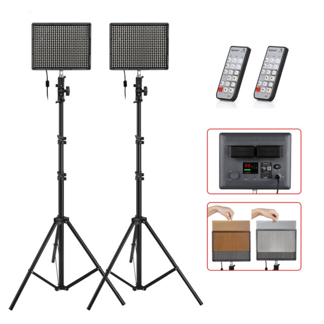 2x Aputure HR672S High CRI95+ LED Video Light Kit +Wireless Control + Stand +Bag