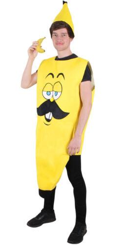 Kostüm Banane mit Hut Herrenkostüm Karneval Fasching Kostüm One size