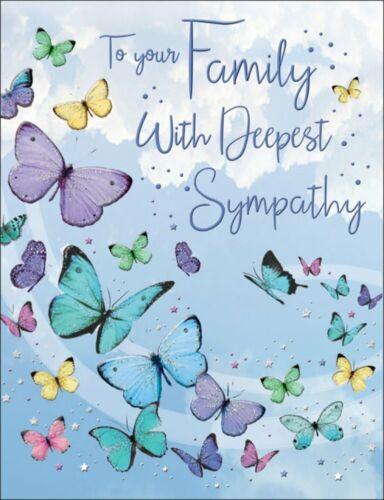environ 15.24 cm 8 x 6 in À votre famille avec sympathie Carte-Papillons