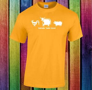 Animals-taste-good-funny-handmade-custom-t-shirt-tee