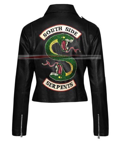 Riverdale Southside serpents Clovix Jones Femmes en cuir synthétique Veste de motard