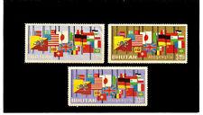 BHUTAN 1964 Unused/Never Hinged Woldwide Flags