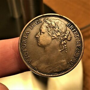 1879-Great-Britain-Penny-KM-755