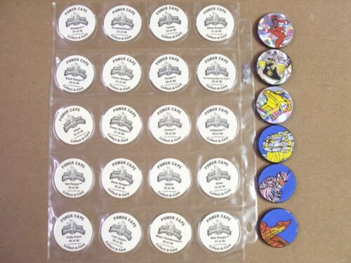 AWESOME POGS  POWER RANGERS SERIES 2 SET//LOT OF 40+ 6 SLAMMERS