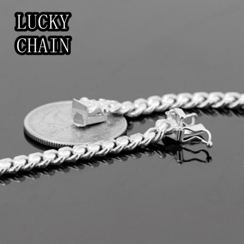 "22/"" 925 STERLING SILVER MIAMI CUBAN LINK CHAIN NECKLACE 5MM 39g//E772"