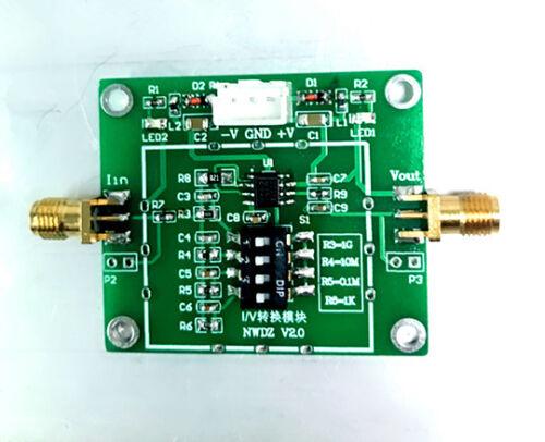 TLC2201 Modul I V-Wandler TIA Transimpedanzverstärkung PA NA UA MA 4 Dateien Opt