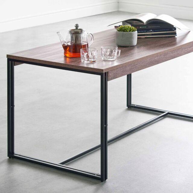 VonHaus Rustic Coffee Table Modern Industrial Urban Design Living Room Furniture