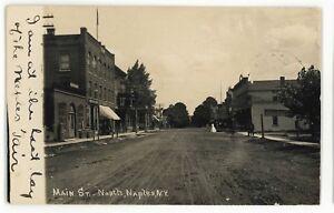 RPPC-Main-Street-View-NAPLES-NY-Finger-Lakes-Ontario-County-Real-Photo-Postcard