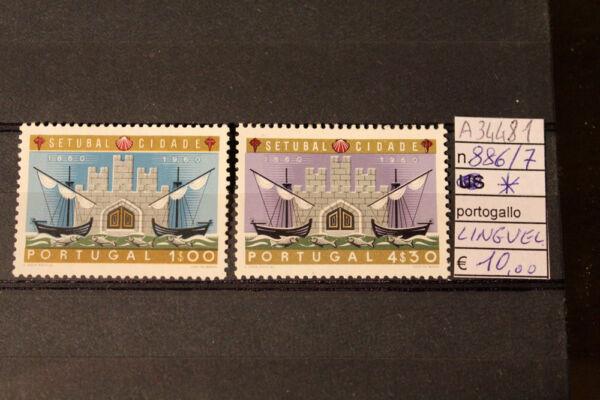 Humble Stamps Francobolli Portugal Mh * N. 886/887 (a34481) MatéRiaux Soigneusement SéLectionnéS