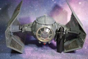 VINTAGE Star Wars COMPLETE Darth Vader TIE FIGHTER + Action Figure KENNER WORKS!