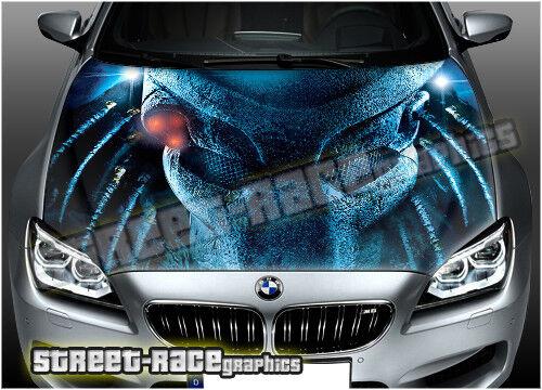 114 Car bonnet hood wrap printed graphics AIR RELEASE vinyl sticker PREDATOR