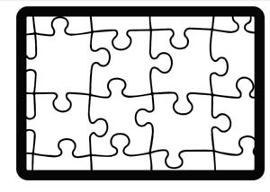 Stencil Puzzle Airbrush Schablone