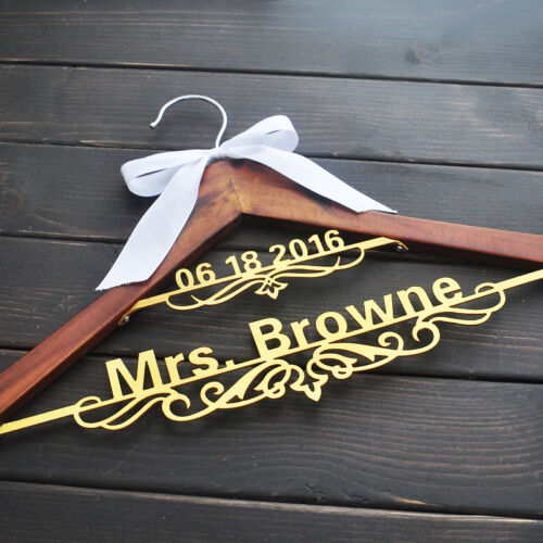 Personalized Wedding Hanger With Date And Bow Bridesmaid Gift Bridal Gift