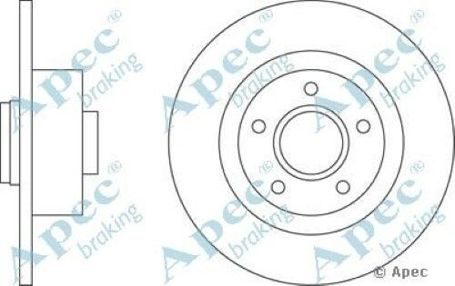 1x OE Quality Replacement Rear Axle Apec Solid Brake Disc 5 Stud 300mm - Single