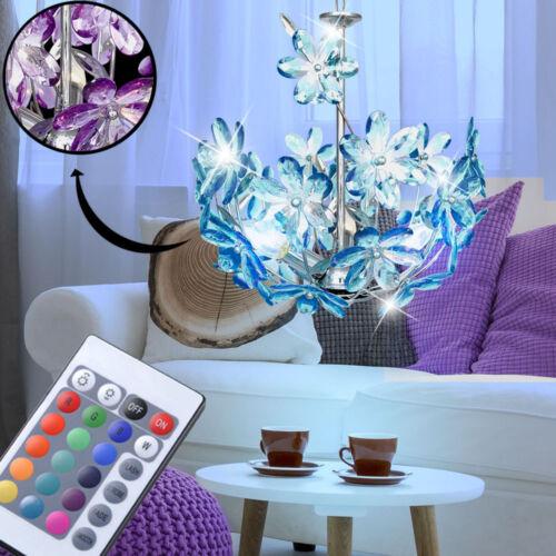 LED Decken Pendel Hänge Lampe RGB Fernbedienung Blüten Leuchte purple Ess Zimmer
