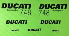 Ducati 748 Thin Track bike or road fairing Decals Sticker KIT #1/748T