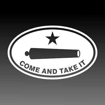 Texas Revolution Decal Come and Take it Cannon Texan Pride Sticker