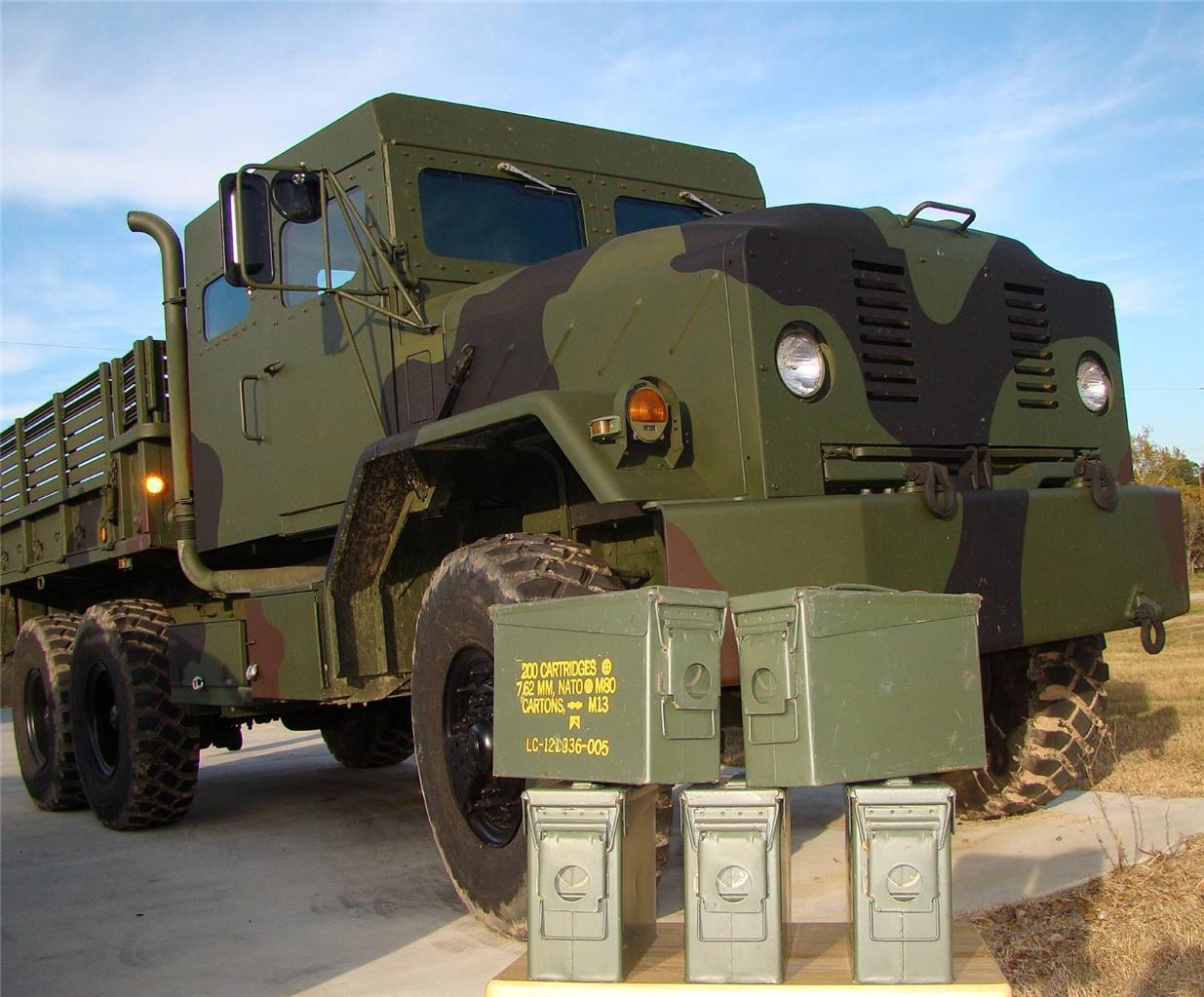 Lote De 5 municiones Latas 30 Calibre 200 Cartucho 7,62 mm Supervivencia Zombie Apocalypse