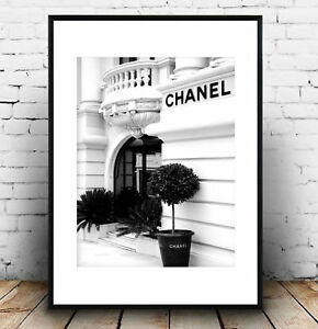 23be6eec6e83 Image is loading coco-chanel-black-and-white-front-store-photography-