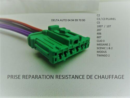 KIT DE REPARATION CONNECTEURS FAISCEAU RESISTANCE CHAUFFAGE RENAULT SCENIC II 2