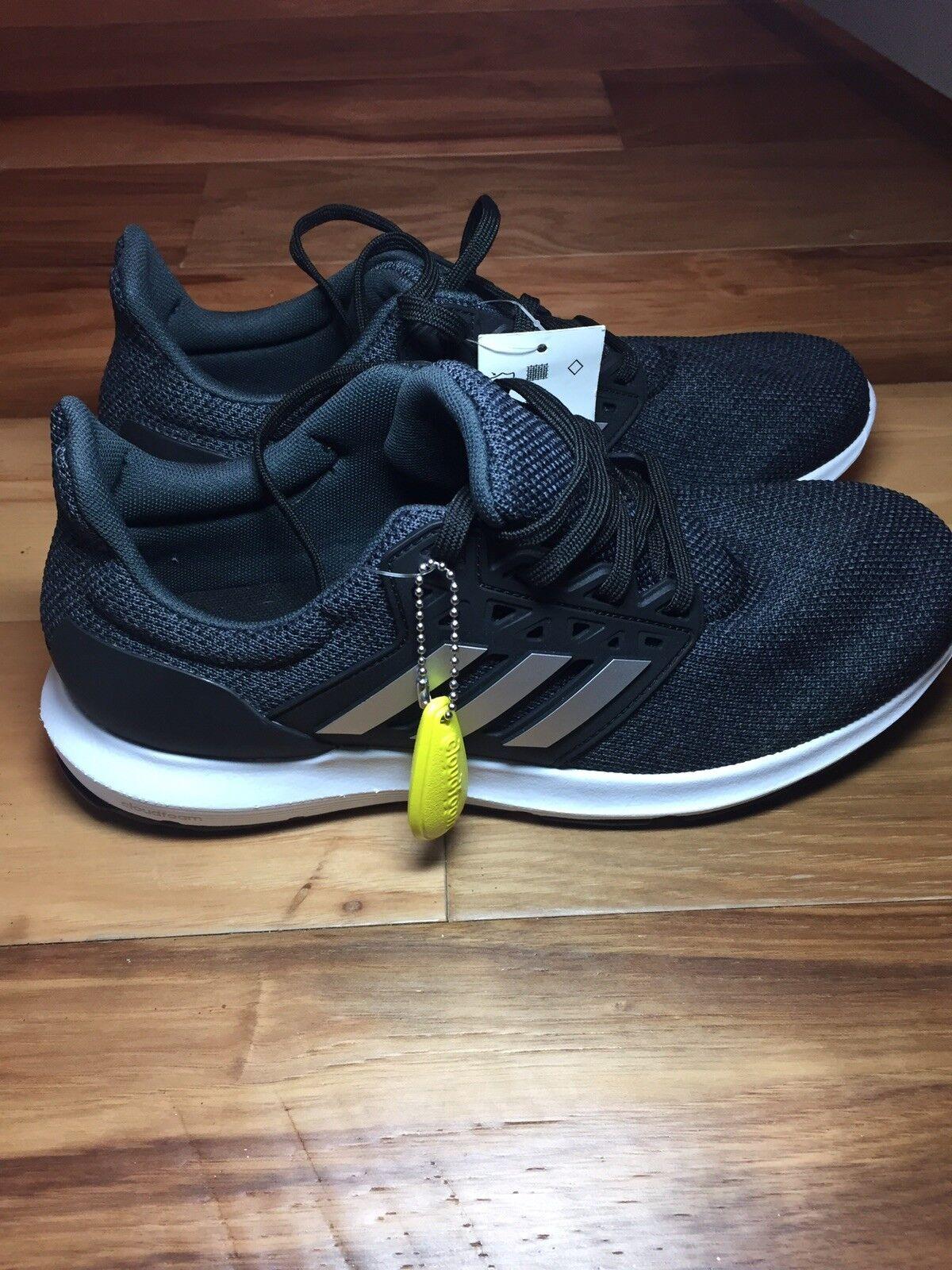 Adidas Women Solyx B43724 Running Sneaker shoes Black Silver Carbon Size 8.5 NIB