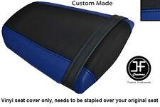 ROYAL BLUE & BLACK VINYL CUSTOM FITS HONDA CBR 600 RR 07-12 REAR SEAT COVER ONLY