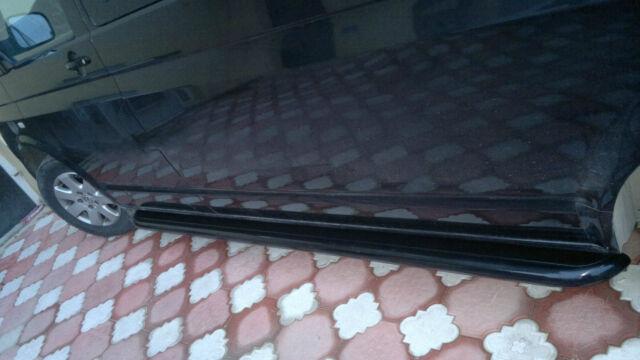VW TRANSPORTER T5 SWB, 2004+ ONWARD, 60MM GLOSSY BLACK SIDE STEPS/RUNNING BOARDS